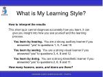 what is my learning style113