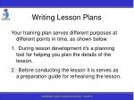 writing lesson plans124