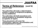 terms of reference cont d as of 07 11 2002