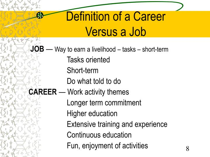 job training versus career development what is Job vs career: 10 key differences you need to understand by jacob shriar - april 14, 2016 working hard for something we don't care about is called stress working hard for something we love is called passion.