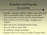 propellers and propeller accessories