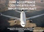 type acceptance certificates for imported aircraft