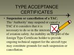 type acceptance certificates15