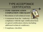 type acceptance certificates19