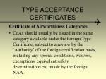 type acceptance certificates7