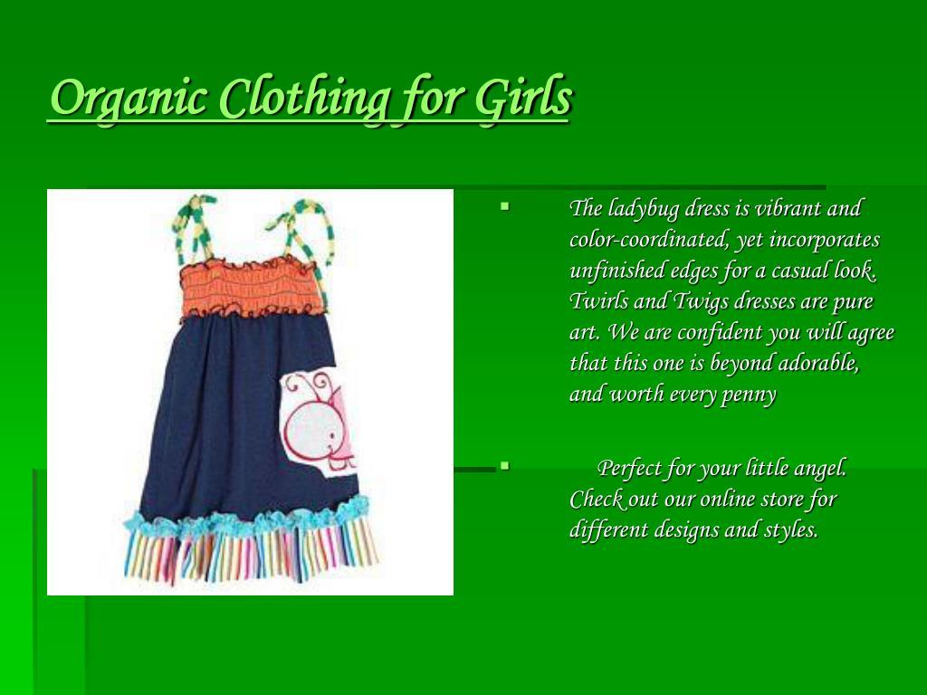 Organic Clothing for Girls