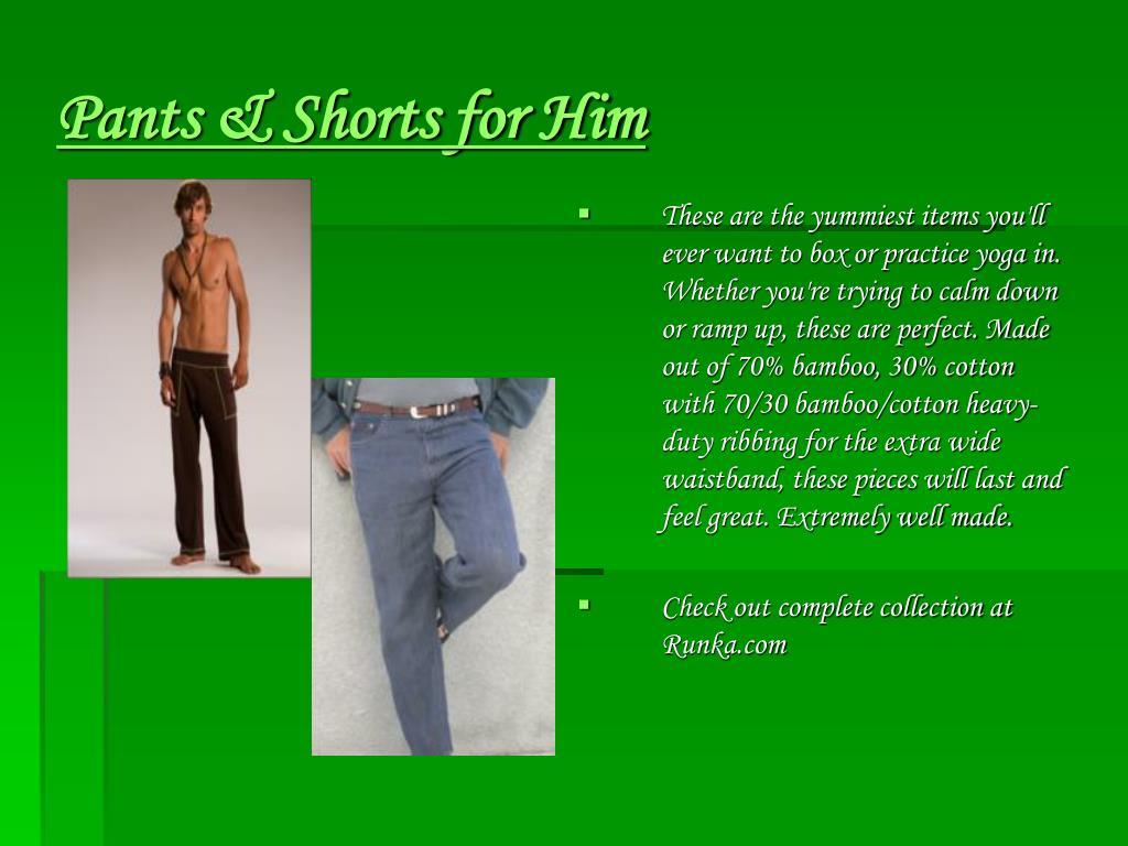 Pants & Shorts for Him