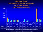 mh free trials the effects of sucker treatment on sucker weight uk coldstream farm