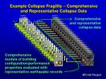 example collapse fragility comprehensive and representative collapse data