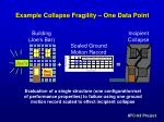 example collapse fragility one data point