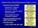 seismic force resisting systems tasks 5 and 61
