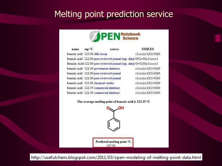 Melting point prediction service