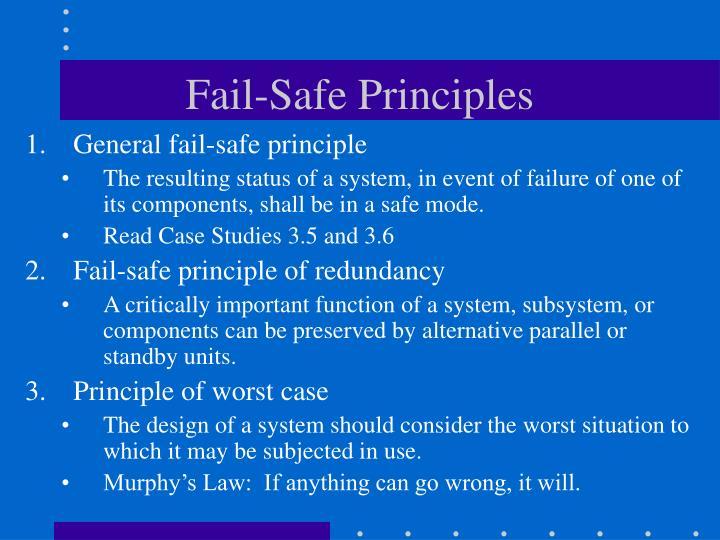 Fail-Safe Principles