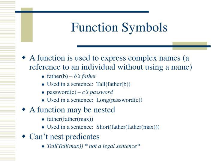 Function Symbols
