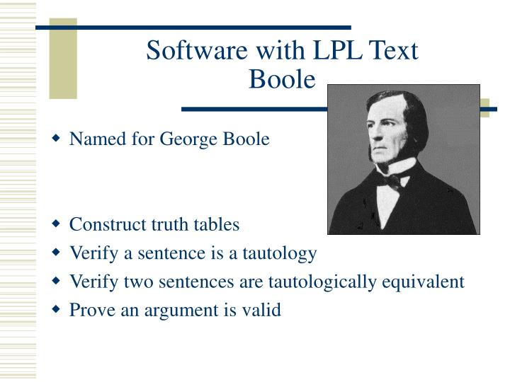 Software with LPL Text
