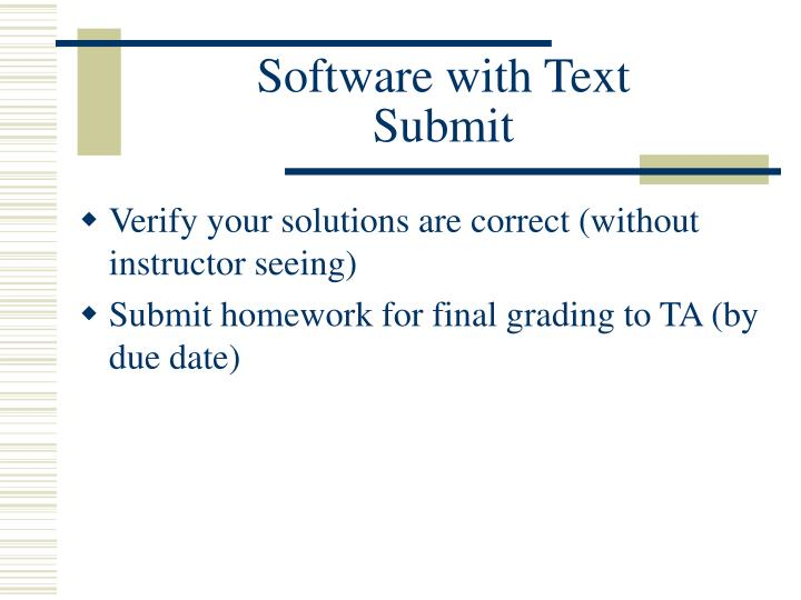 Software with Text