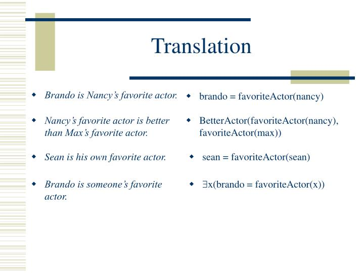 Brando is Nancy's favorite actor.