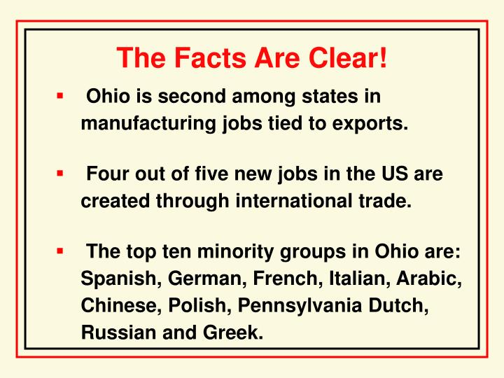 The Facts Are Clear!