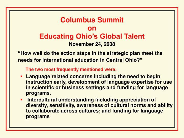 Columbus Summit