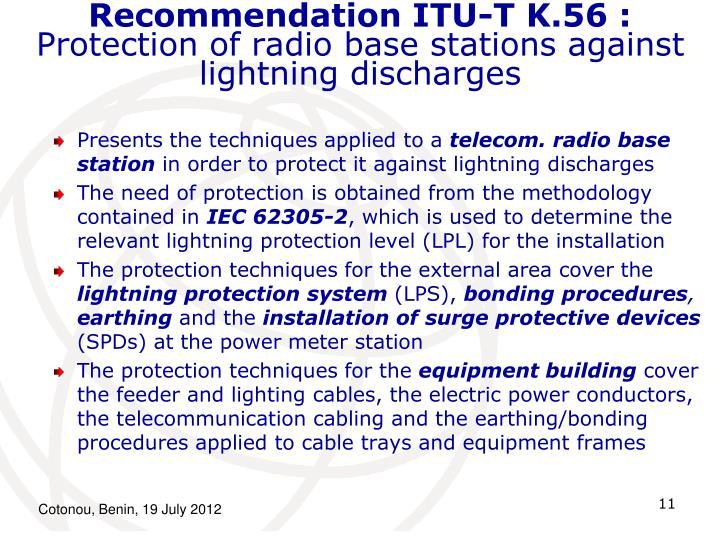 Recommendation ITU-T K.56 :