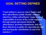 goal setting defined