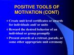 positive tools of motivation cont