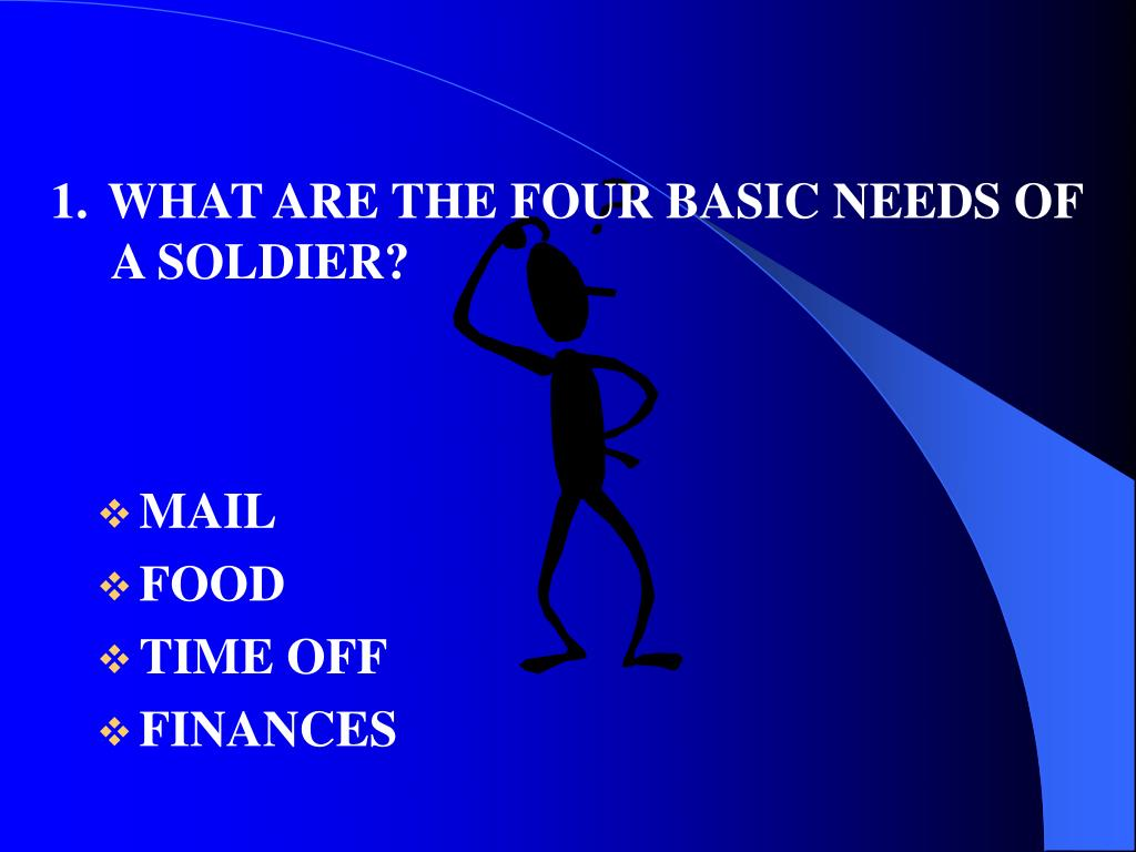 WHAT ARE THE FOUR BASIC NEEDS OF