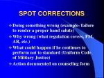 spot corrections