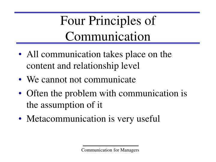 Four Principles of Communication