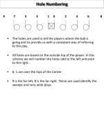 hole numbering