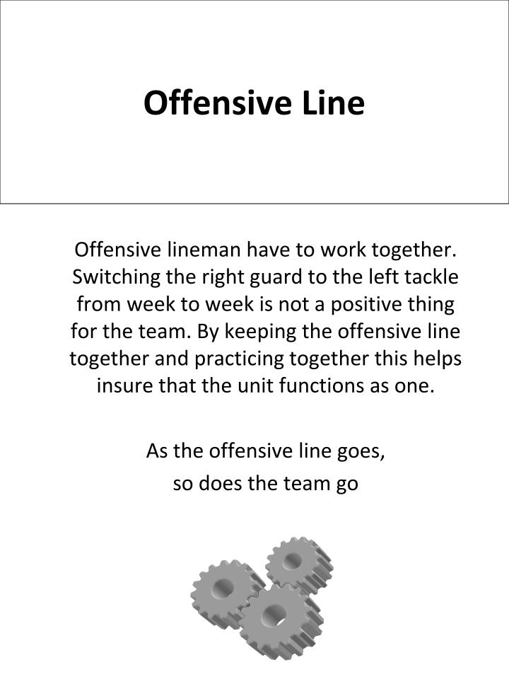 offensive line n.
