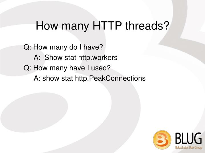 How many HTTP threads?