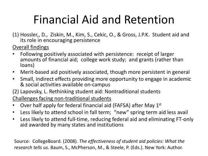 Financial Aid and Retention