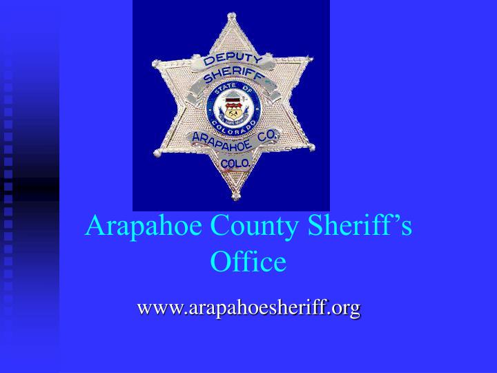 arapahoe county sheriff s office n.