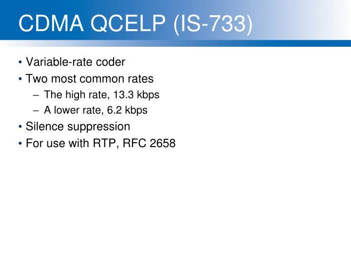 CDMA QCELP (IS-733)