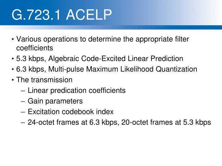 G.723.1 ACELP