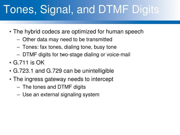 Tones, Signal, and DTMF Digits
