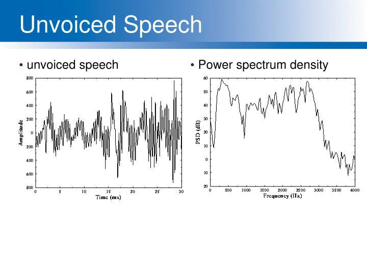 unvoiced speech