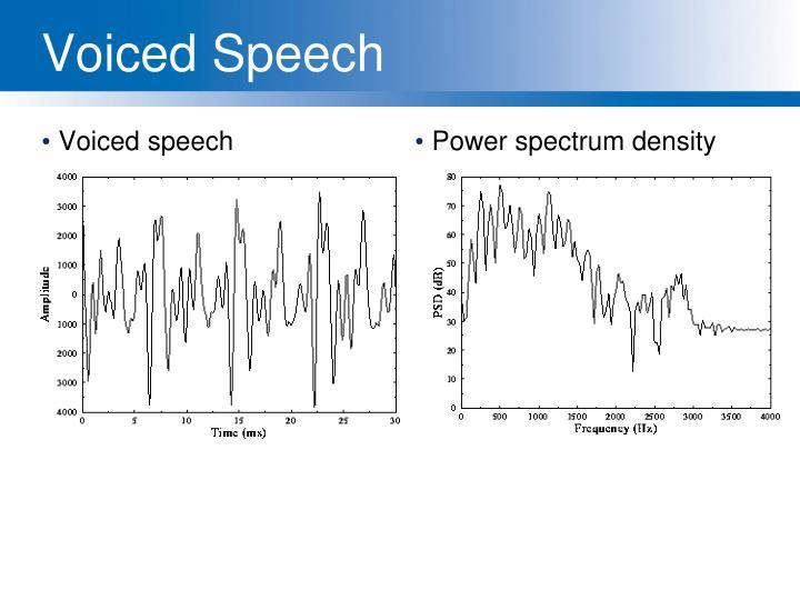Voiced speech