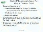 naesb tf documents released for informal comment period