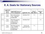 e a goals for stationary sources