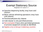 exempt stationary source regulation 5 01 section 1 7