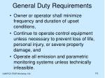 general duty requirements115