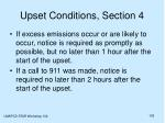 upset conditions section 4