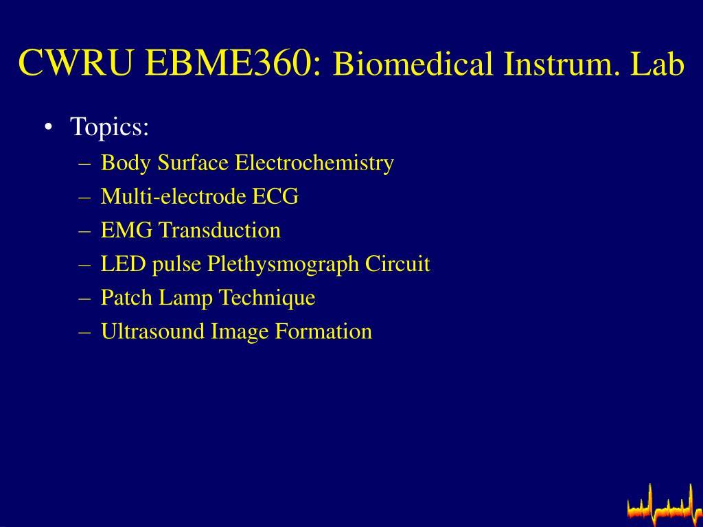 CWRU EBME360: