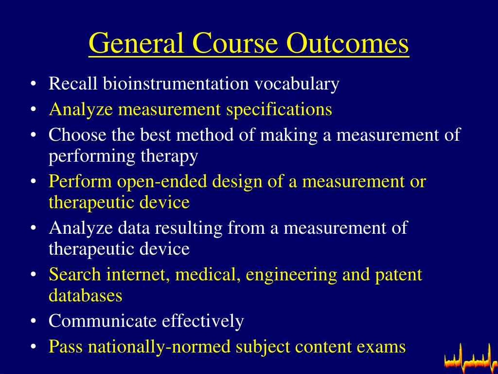 General Course Outcomes