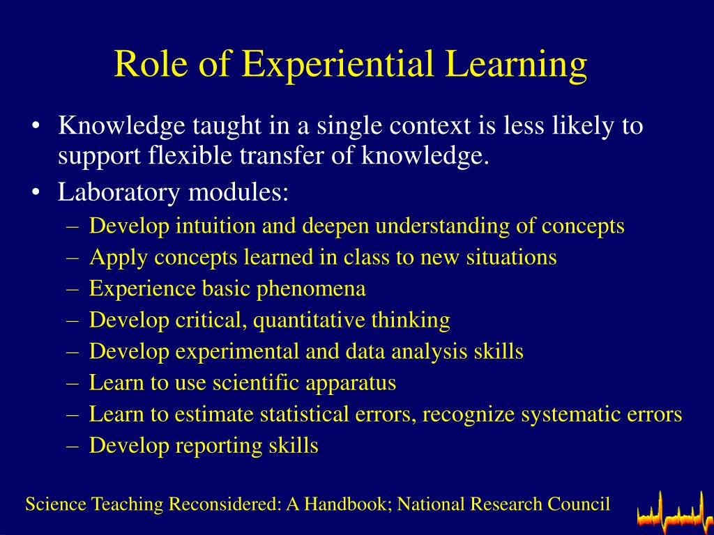 Role of Experiential Learning