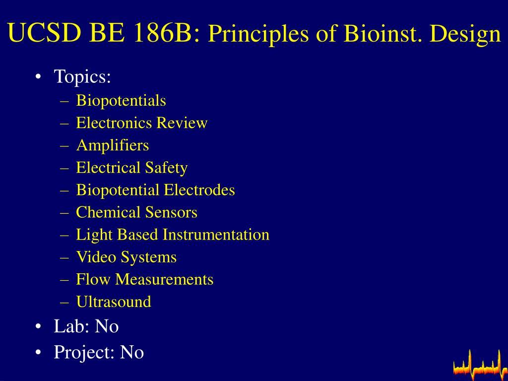 UCSD BE 186B: