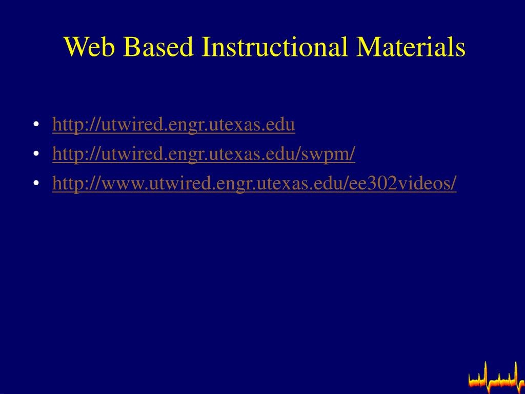 Web Based Instructional Materials