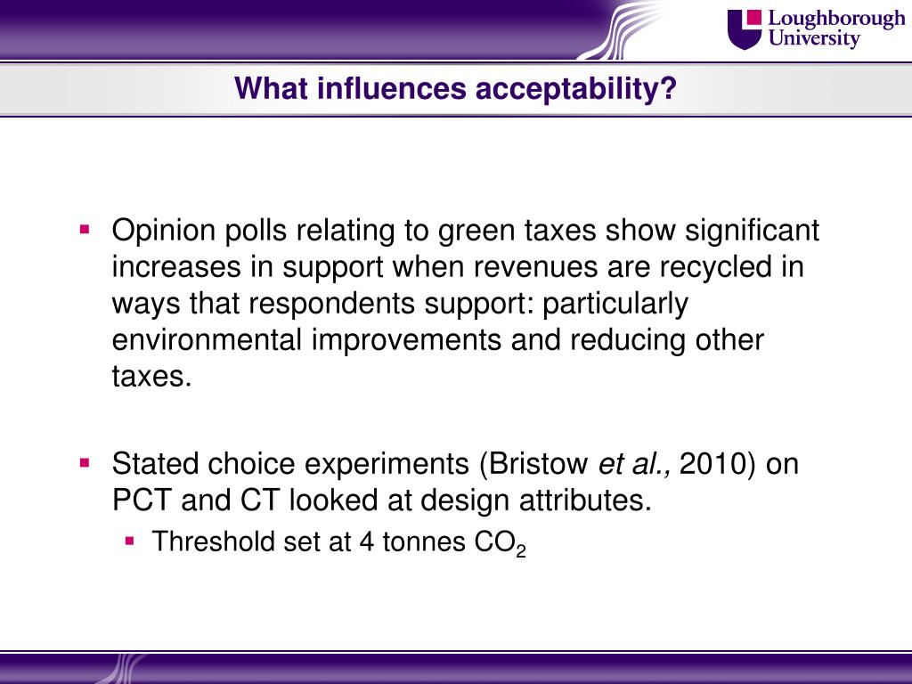 What influences acceptability?